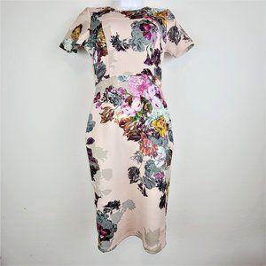 ASOS Dress 6P Ponte Knit/Scuba Knee Length Shift